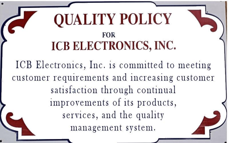 ICB Electronics Quality Policy